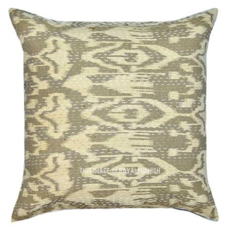 grey patterned cushions 18 decorative grey zig zag patterned ikat kantha throw