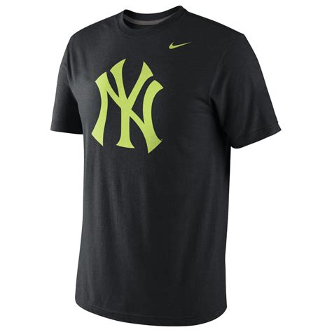 Tshirtt Shirtkaos Nike Ny Black nike new york yankees triblend logo t shirt in black for black lyst
