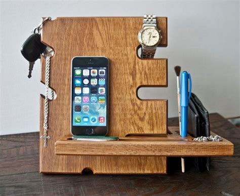 iphone desk stand charger wooden stand desk accessories wood iphone dock apple