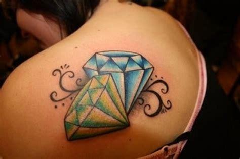 diamond tattoo purple colorful scene tattoo designs