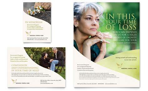 memorial funeral program flyer ad template word