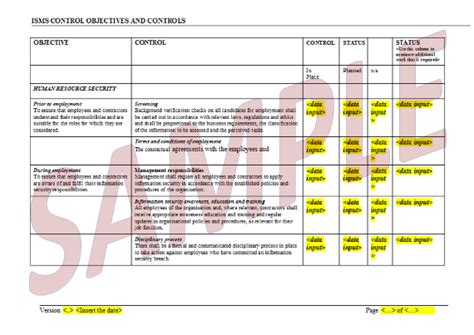 isms policy template isms templates quales