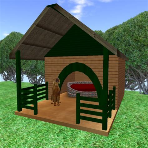 how to build dog house for two dogs second life marketplace dog s house and bed 犬小屋