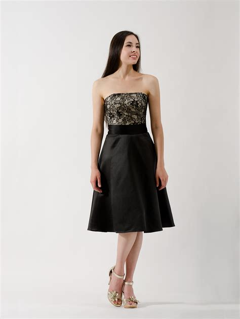 Black Bridesmaid Dress by Black Lace Strapless Bridesmaid Dress Bm Dress 001