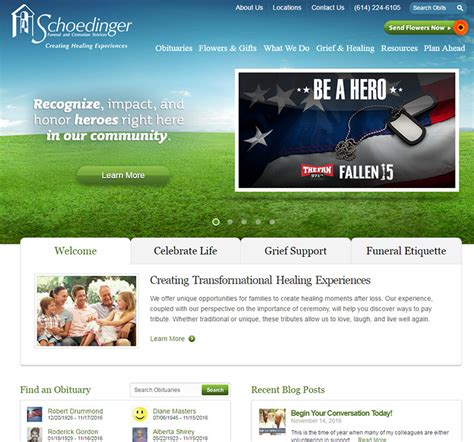 best funeral home websites home review 100 best funeral home website designs