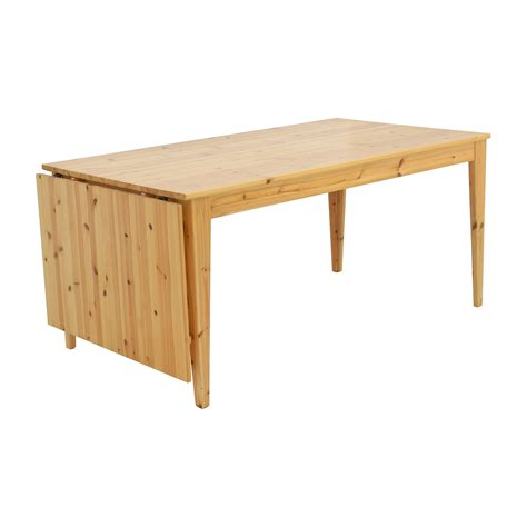 ikea drop table 61 ikea ikea norma s pine wood drop leaf table tables