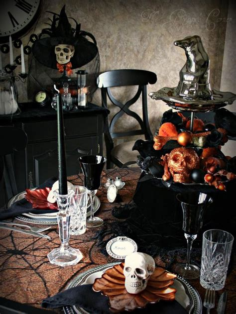 halloween party decoration ideas modern furniture spooky halloween table settings and
