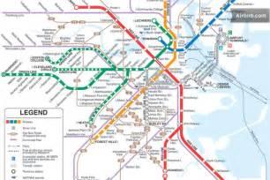 Red Line Boston Map by Mbta Boston Subway Map