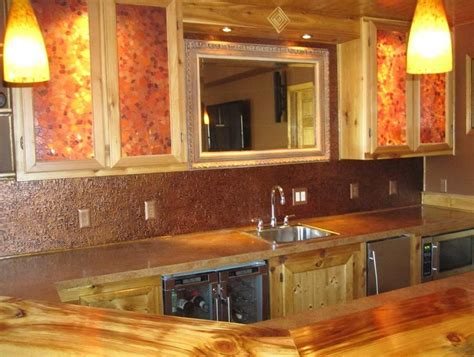 copper sheet backsplash strong decor with copper backsplash ideas great home decor