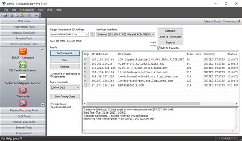 traceroute port traceroute tool