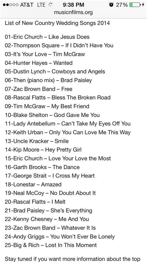 Rustic Wedding Song List by Best 25 Country Weddings Ideas On Country