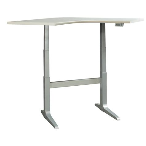 used electric table haworth and workrite used electric lifting corner table