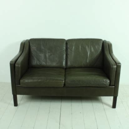 2 seater dark brown leather sofa vintage mogensen style 2 seater dark brown leather sofa
