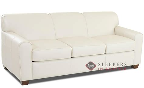 savvy sleeper sofas customize and personalize zurich queen leather sofa by