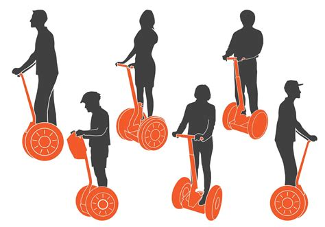 segway images segway silhouettes free vector stock