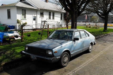 parked cars 1981 datsun 310 gx 5 door hatchback