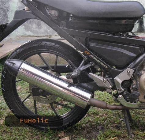 Lu Untuk Motor Satria Fu knalpot satria fu untuk motor matic pakai silencer satria
