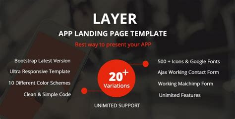 themeforest app landing page layer responsive app landing page free download free