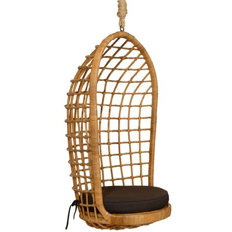 hanging rattan chair rattan hanging chair at 1stdibs