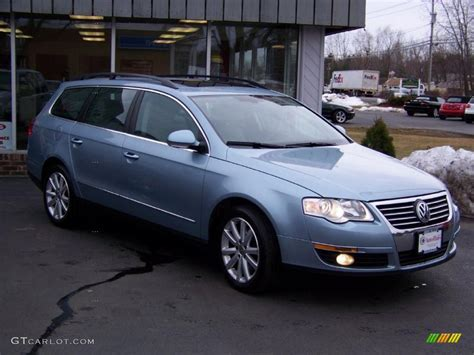 blue volkswagen passat 2007 arctic blue silver metallic volkswagen passat 3 6