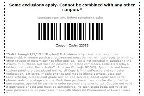 staples color printing coupon code