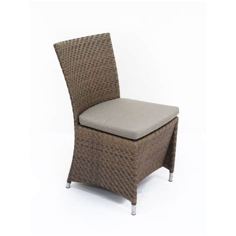 outdoor wicker parson chairs valencia woven all weather wicker parsons chair