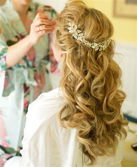 half up half down hairstyles for bridesmaids 15 latest half up half down wedding hairstyles for trendy