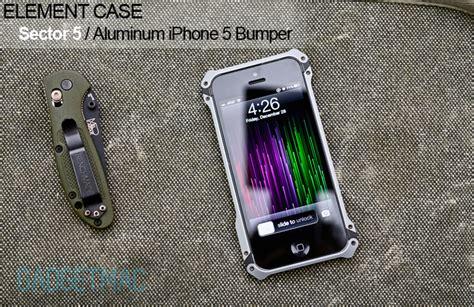Element Sector Pro Iphone 6 Alumunium Metal Bumper element sector 5 aluminum iphone 5 review gadgetmac