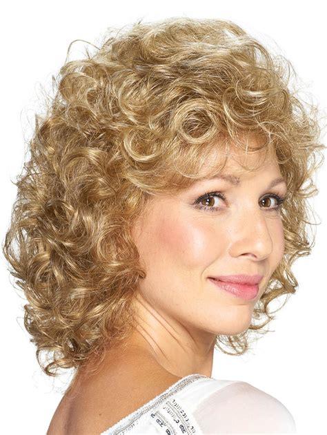 Curly Medium Wig classic curly cut medium synthetic hair wigs