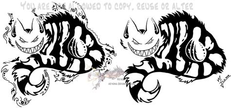 cheshire cat tribal masculine versions by arixona on