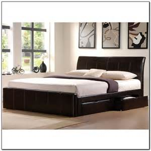 King Size Bed With Drawers Underneath Furniture Modern Black King Size Platform Bed Frame With