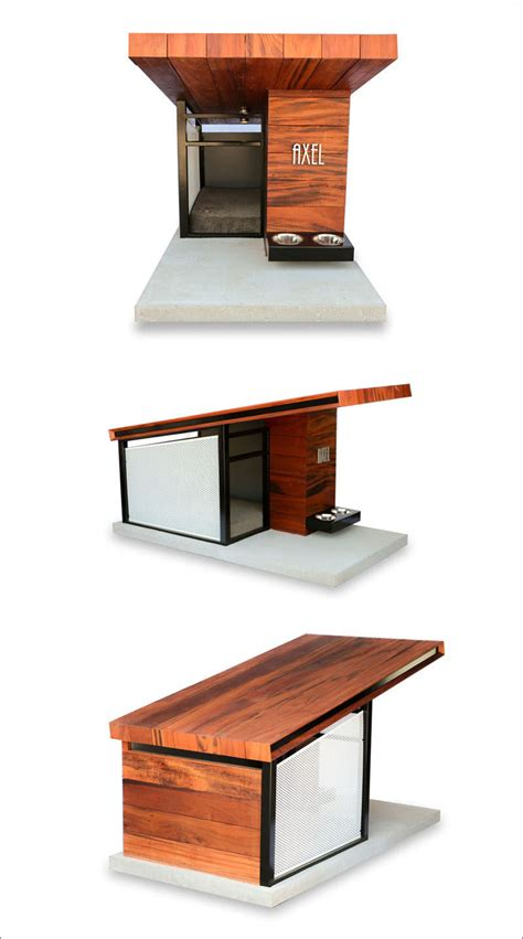 good dog house this modern dog house is designed to fit your home s aesthetic contemporist