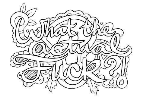 coloring pages for adults swear words https www facebook com colorfullanguageart swear words