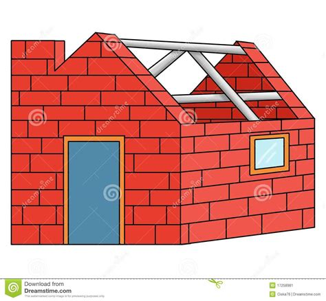 House Building Plans And Prices Bricks House Stock Illustration Image Of Yard White