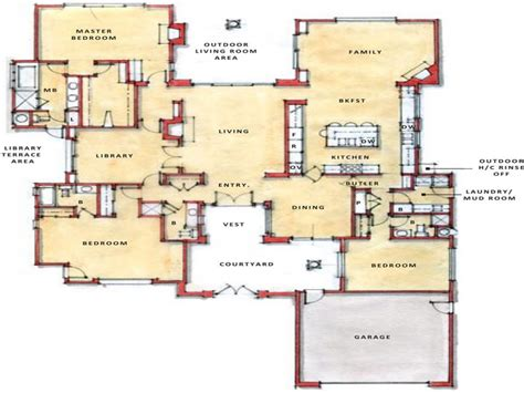 modern open floor plan modern open floor plans single story open floor plans