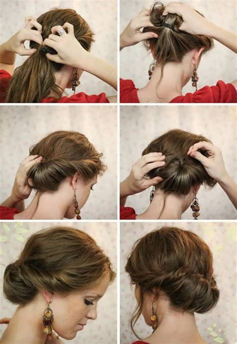 easy updos for short hair step by step 11 easy hairstyles step by step hairstyles for all