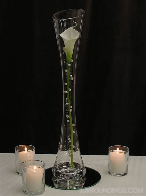 Vases With Candles Centerpieces by Pearled Calla In Vase Candle Centerpiece Kit