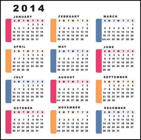 2014 annual calendar template 2014 printable yearly canadian calendar autos weblog