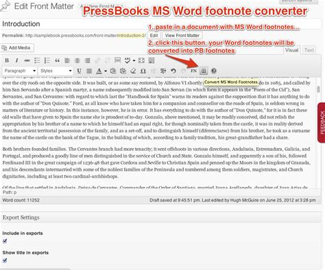 format all footnotes word new feature ms word footnote converter pressbooks