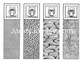 printable bookmarks to color printable bookmarks owl zendoodle zentangle inspired