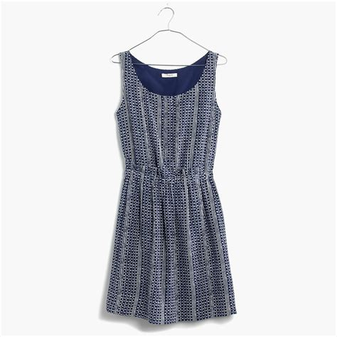 Paper Bag Batik I Paper Bag Tali madewell paperbag tank dress in batik stripe in blue lyst
