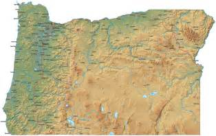 cascade mountain range map oregon