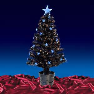 3ft 90cm beautiful black fibre optic christmas tree with