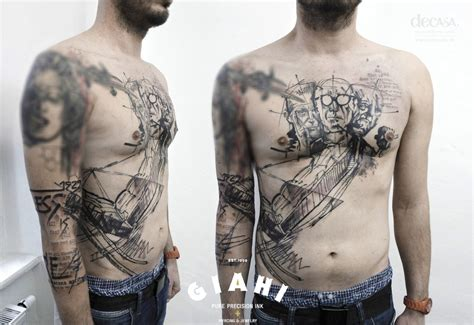 black men trash polka tattoo by carola deutsch best
