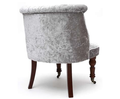 silver bedroom chair clare silver crushed velvet bedroom chair