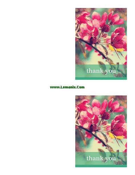 free thank you cards for microsoft publisher templates for