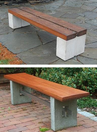 cinder block and wood bench diy garden benches and tables made with cinder blocks