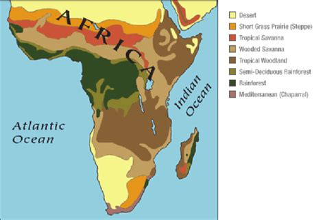 design guidelines for tropical wet and dry climate a map of central africa in the savanna biome image