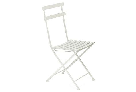 Distressed Bistro Chair Metal Bistro Chair Distressed White On Onekingslane Home Decor We