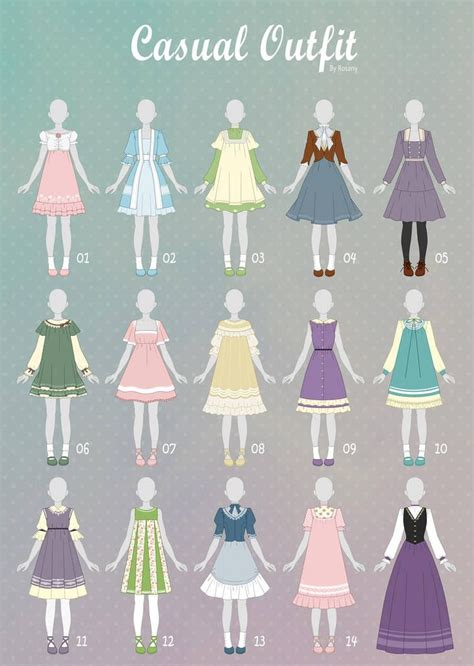 open  casual outfit adopts   rosariy anime